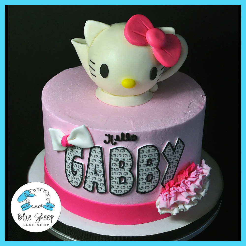 Hello Kitty Teapot Birthday Cake Blue Sheep Bake Shop