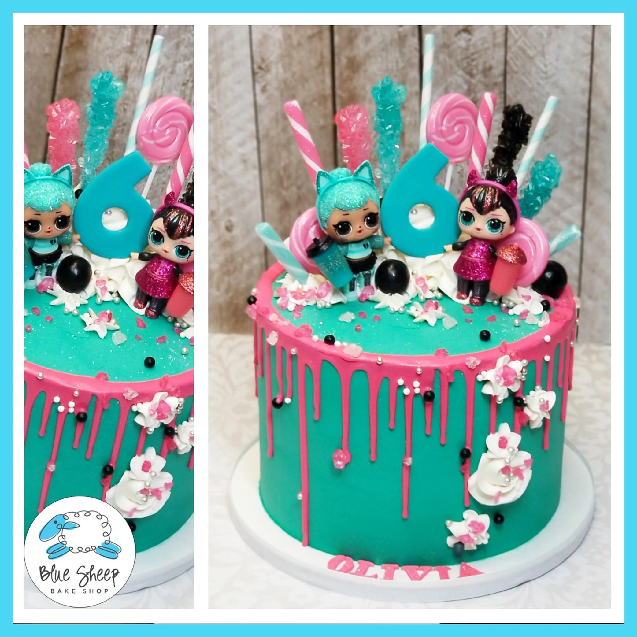 Olivias Lol Doll Drip Cake Blue Sheep Bake Shop