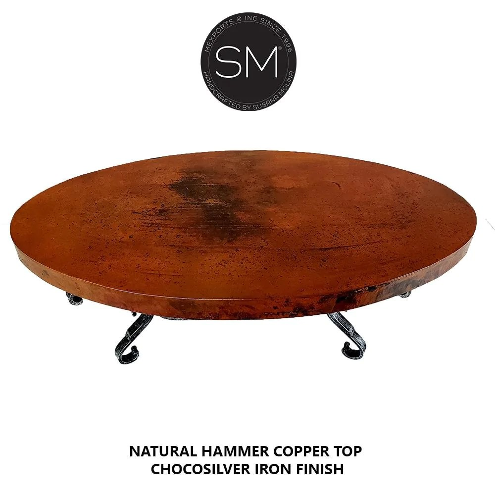 bestseller hammer copper oval coffee table iron tables