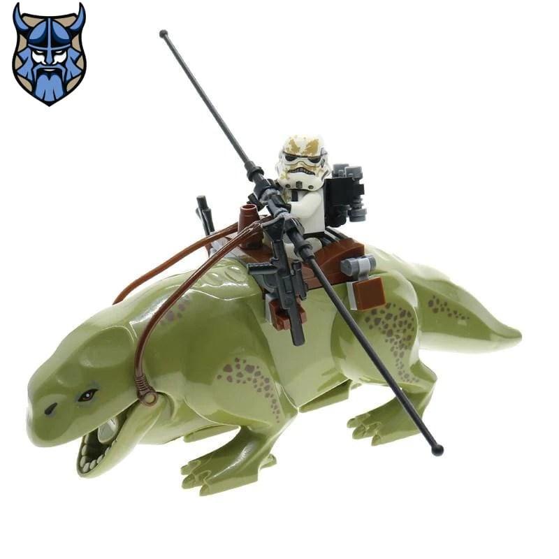 dewback and sandtrooper minifigures