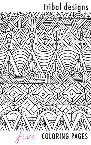 tribal designs 5 coloring