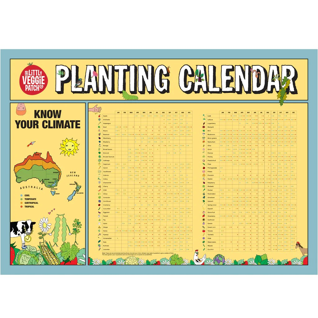 Planting calendar little veggie patch co also the rh littleveggiepatchco