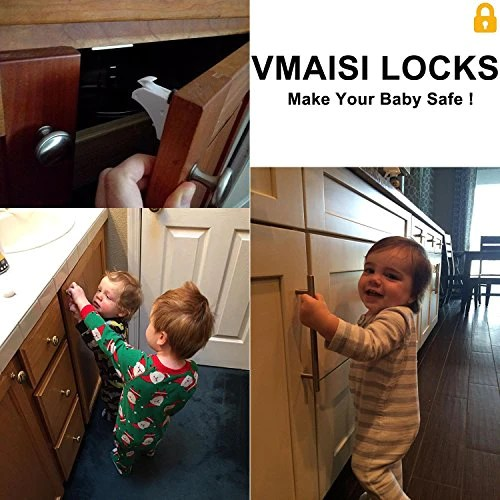 Baby Proofing Magnetic Cabinet Locks Vmaisi 12 Pack