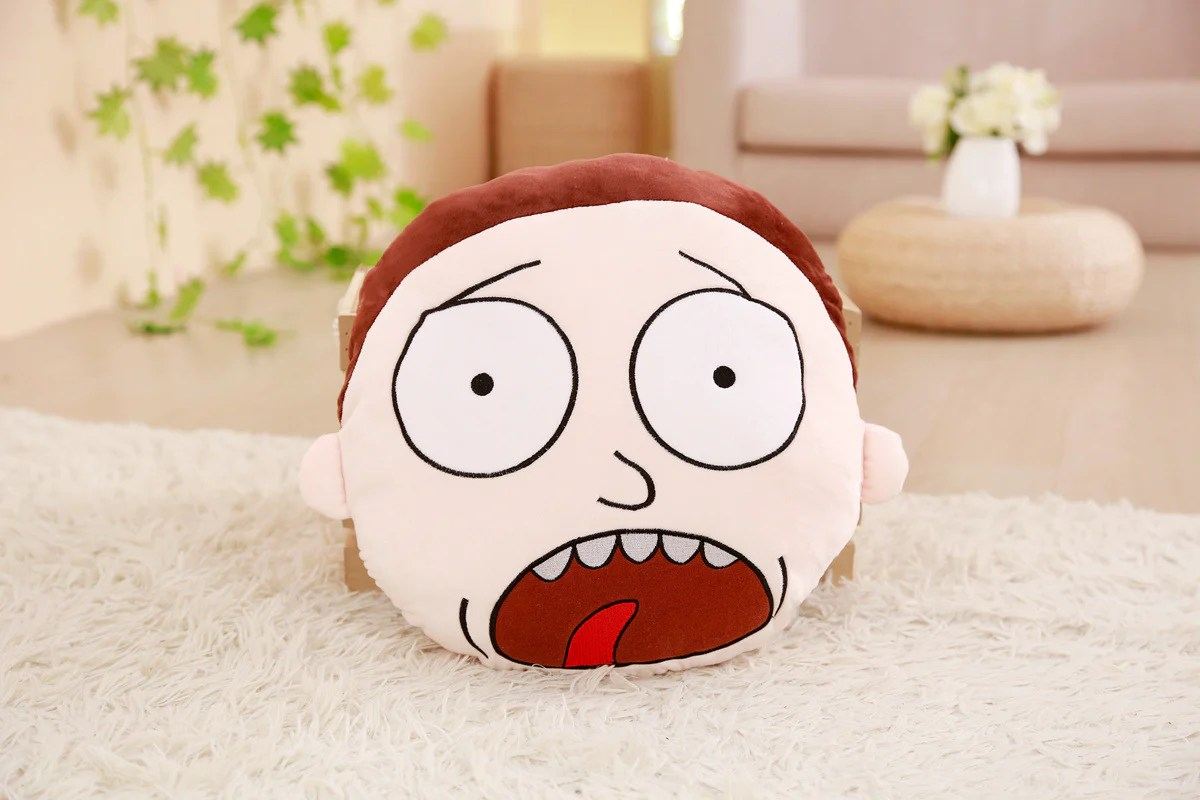 rick and morty plush cushion pillow