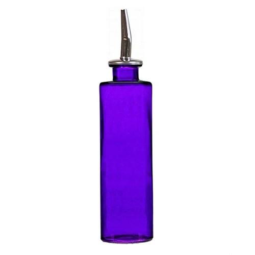 oil dispenser kitchen step stool for olive and vinegar dressing g418m violet colored decorative glass