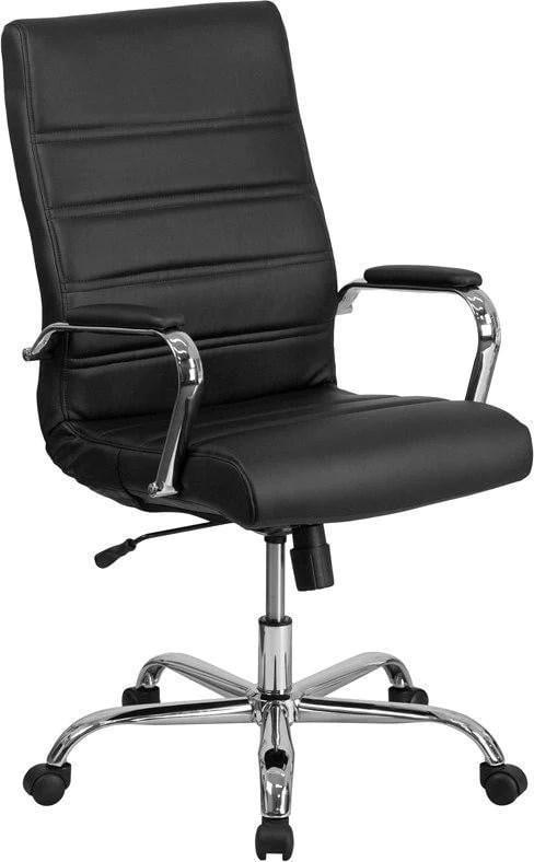 Flash Furniture Go 2286h Bk Gg High Back Black Leather