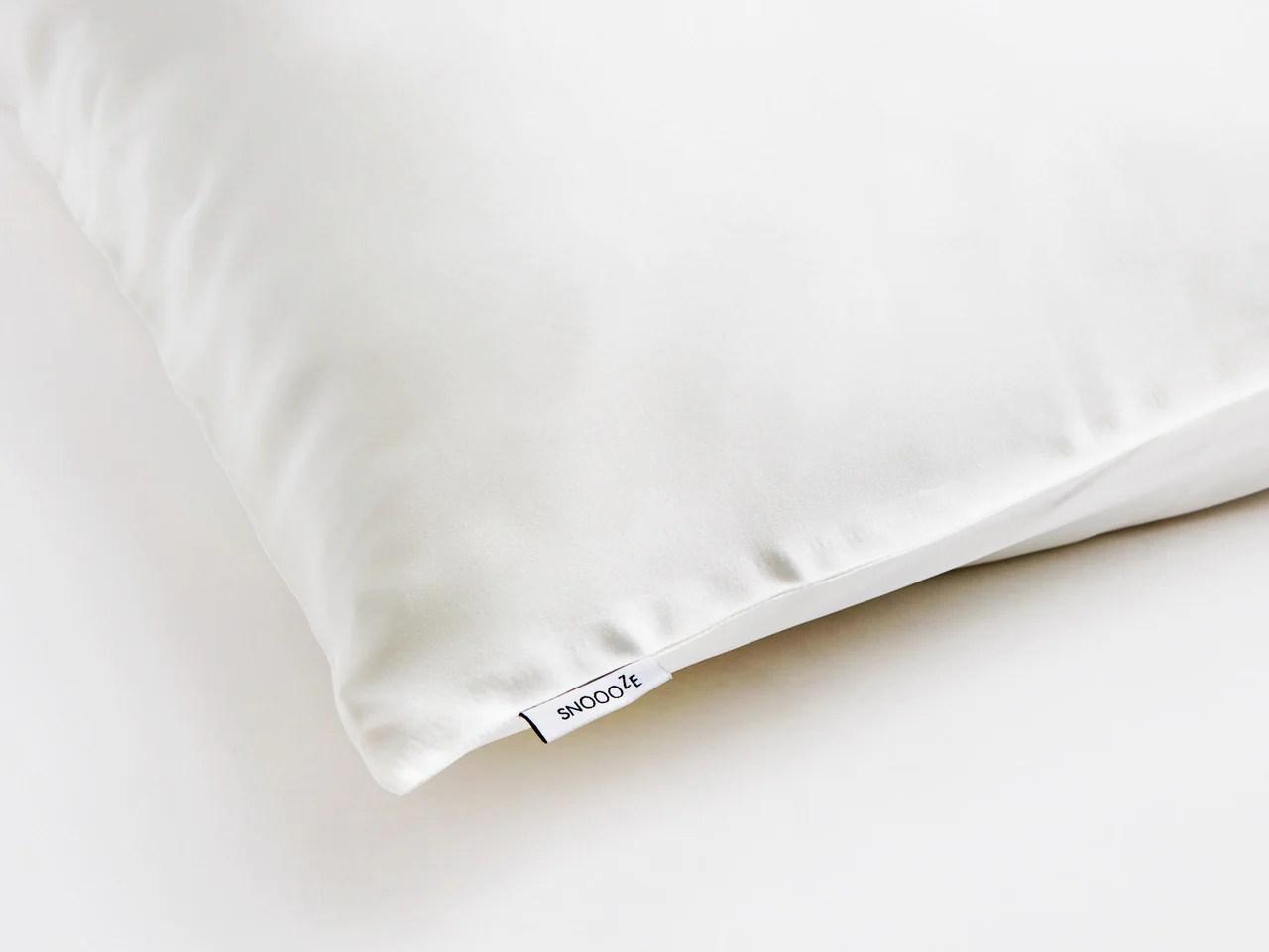 mini cream silk pillowcase