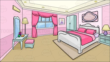bedroom clipart room background teenage cartoon bed sleeping simple cliparts mirror boys clip pink library cartoons closet floor mother vector