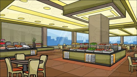 A Buffet Restaurant Background Clipart Cartoons By VectorToons