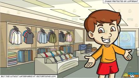 boy clothing inside clipart shopping cheerful cartoons