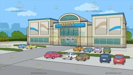 Outside Shopping Mall Cartoon