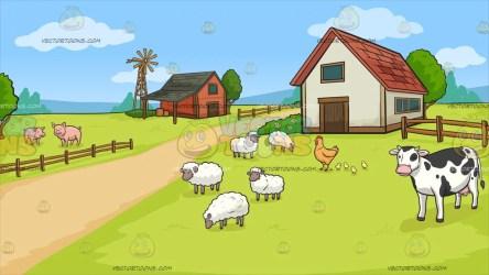 farm background clipart clip vectortoons fence cartoons