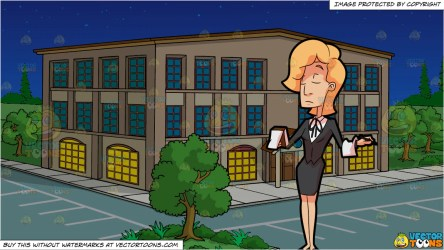 A Female Waiter Of A Fine Dining Restaurant Taking Orders and Outside Clipart Cartoons By VectorToons