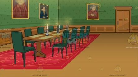 dining room castle background grand wall clipart vectortoons cartoons door brown