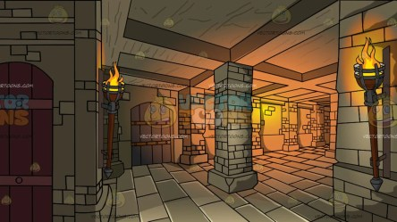 dungeon background medieval clipart vectortoons cartoons
