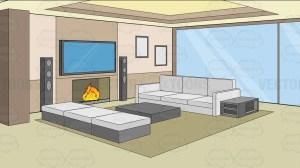 living background modern clipart comfy bedroom cartoons webstockreview