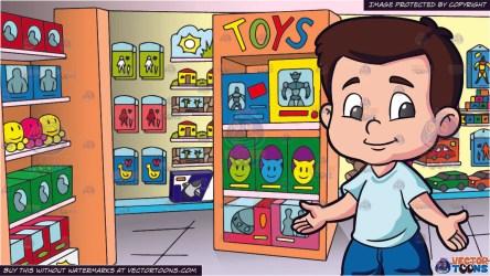 toy boy clipart play inside preschooler ready vectortoons cartoons cliparts clipground