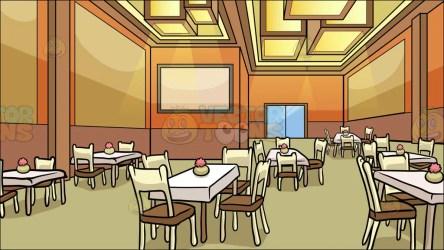 restaurant dining room background clipart cartoons