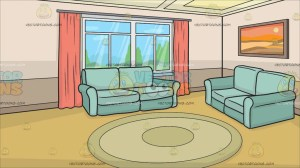 living clipart background cartoon interior couch vectortoons clip cartoons webstockreview