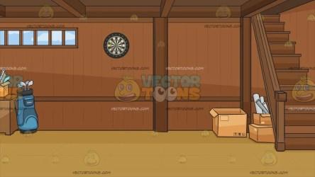 basement cartoon background tidy clipart wooden cliparts clip cartoons wood vectortoons walls wall light regular floor carwad