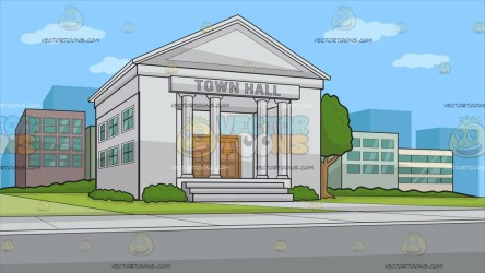 A Town Hall Background Clipart Cartoons By VectorToons