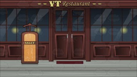 restaurant background outside valet stand clipart cartoons