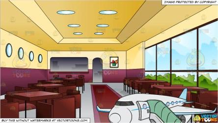 inside go airplane restaurant posh very woman clipart interior