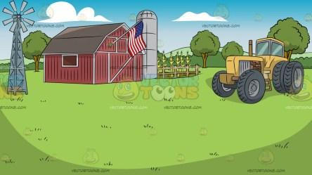 background farm vectortoons american
