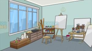 studio background clipart shelves vectortoons clip cartoons vector clker