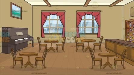 saloon west background clipart cartoon piano vectortoons cartoons room walls