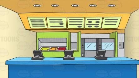 counter restaurant food fast background cartoon clipart cash vectortoons clip cartoons vector cooking