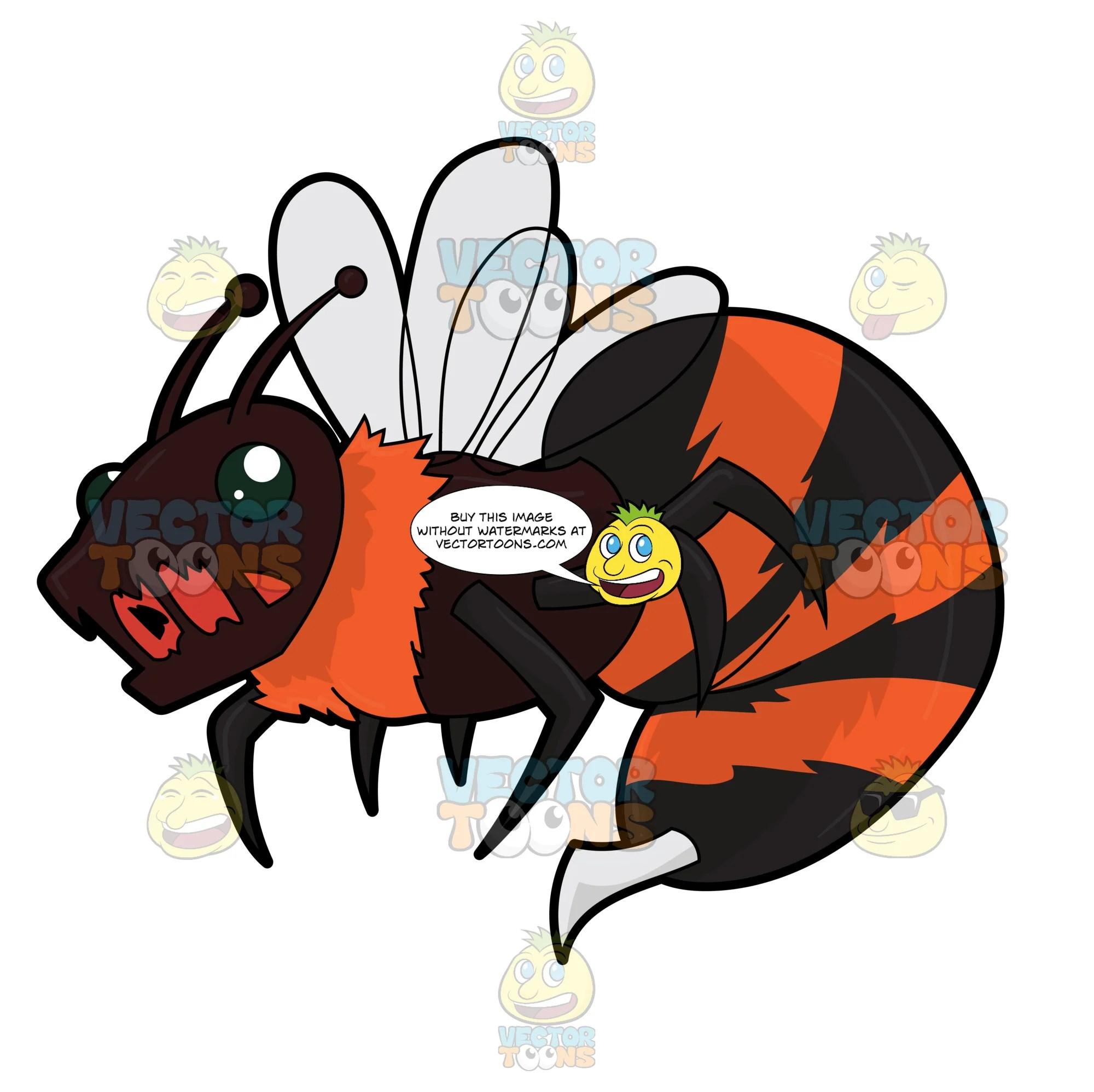 horrific killer bee clipart