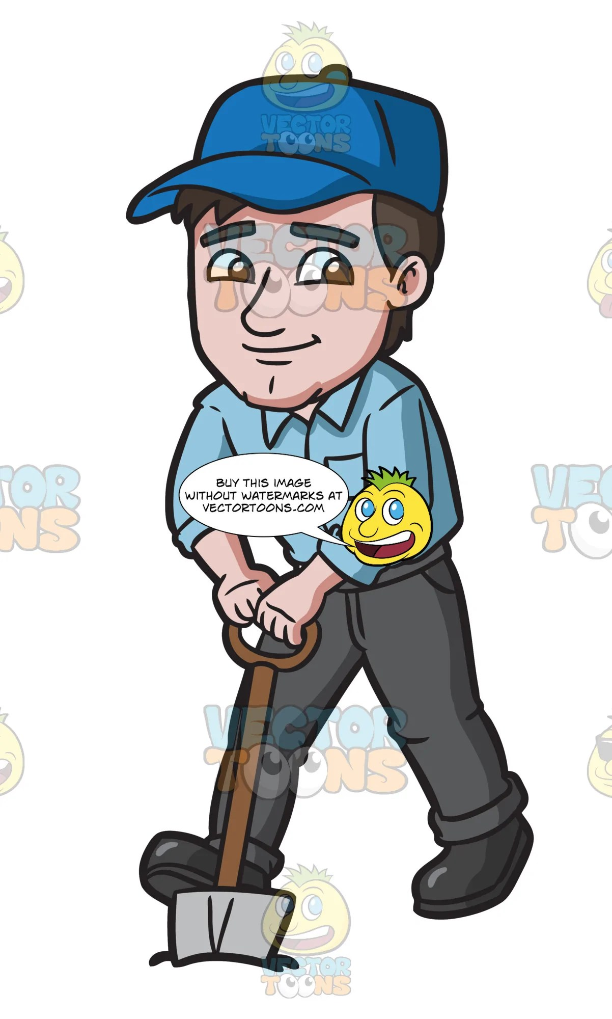 hight resolution of digging clipart