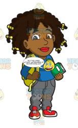 Girl College Student Cartoon
