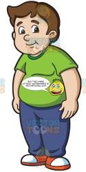 student chubby male cartoons boys clipart