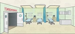 hospital emergency background cartoon clipart drawing vector cartoons inside empty hospitals vectortoons backdrops scenery