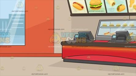 restaurant inside fast clipart cartoons
