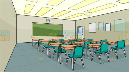 Inside A High School Classroom Background Clipart Cartoons By VectorToons