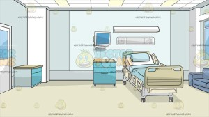 hospital inside background clipart drawing bed private wall vectortoons hospitals construction sign cartoons drawings