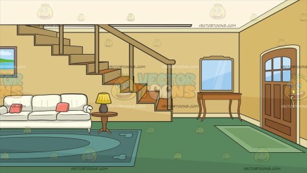 inside background living clipart front cartoon entrance door area stairs foyer pink dark table clip cartoons side floor yellow main