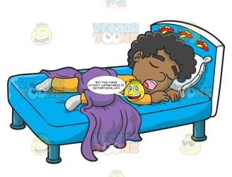 sleeping boy saliva down clipart flowing vectortoons cartoons