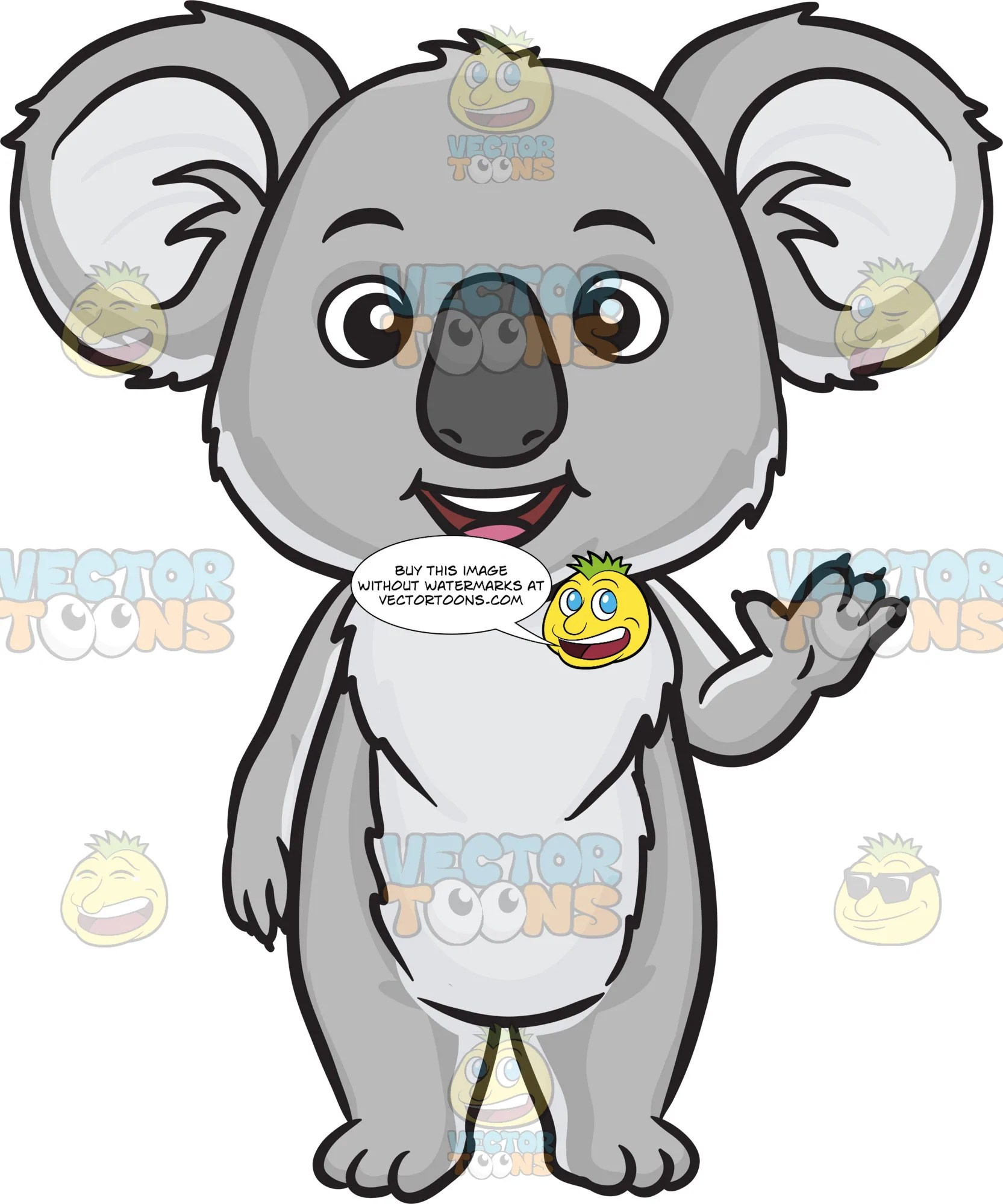 hight resolution of koala bear clipart