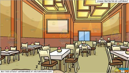 Let Sleeping Dogs Lie and A Restaurant Dining Room Background Clipart Cartoons By VectorToons