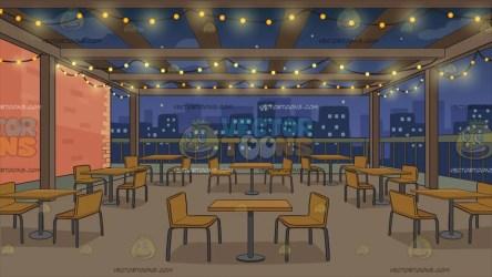 background restaurant rooftop clipart manhattan cartoons