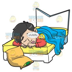 sleeping bed clipart