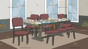 dining messy clipart background backgrounds vectortoons cartoons clipground