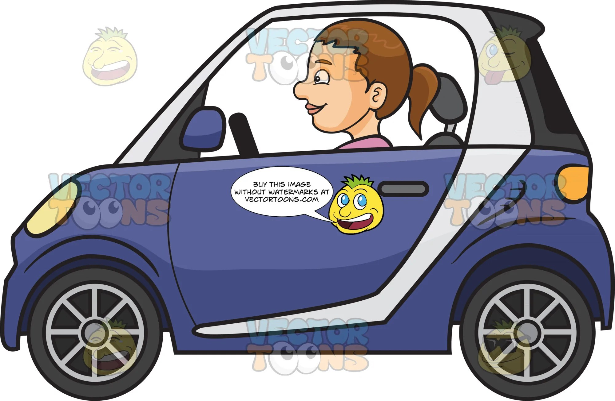 a woman driving a