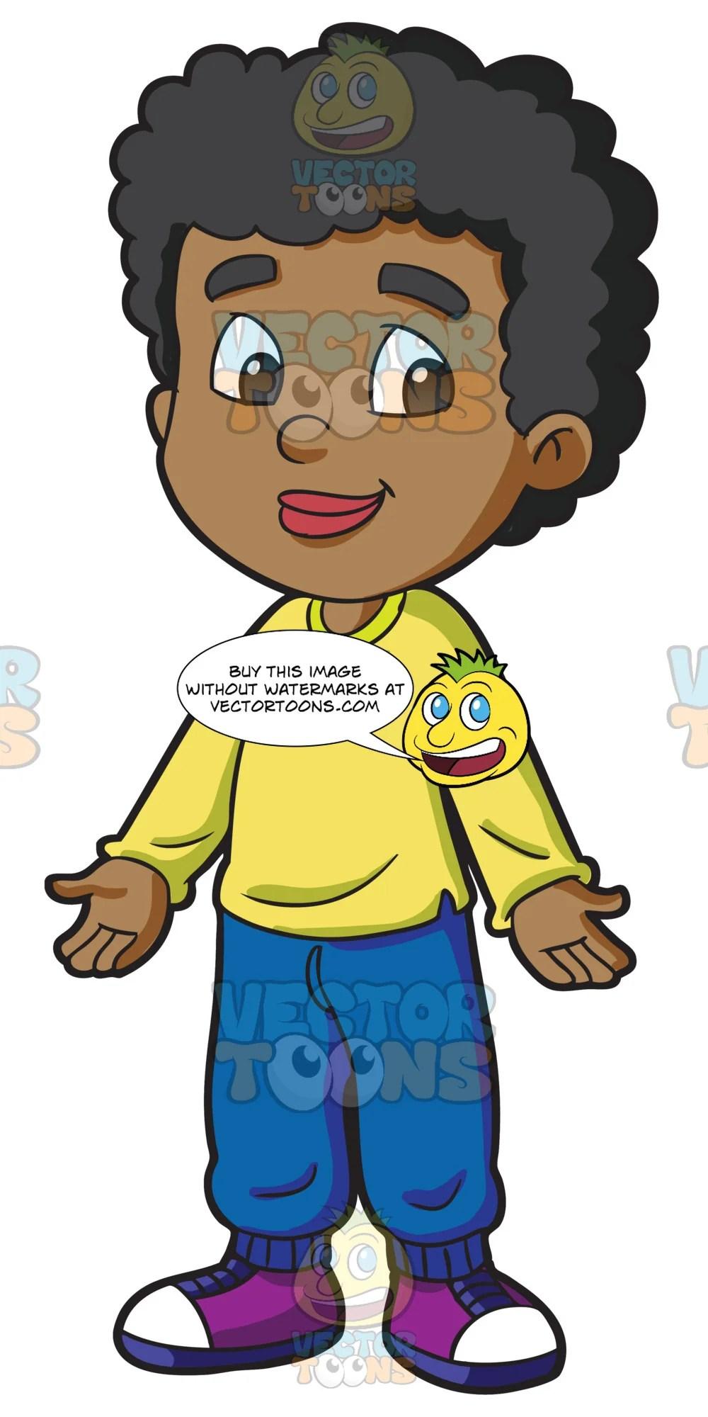 black male primary school student