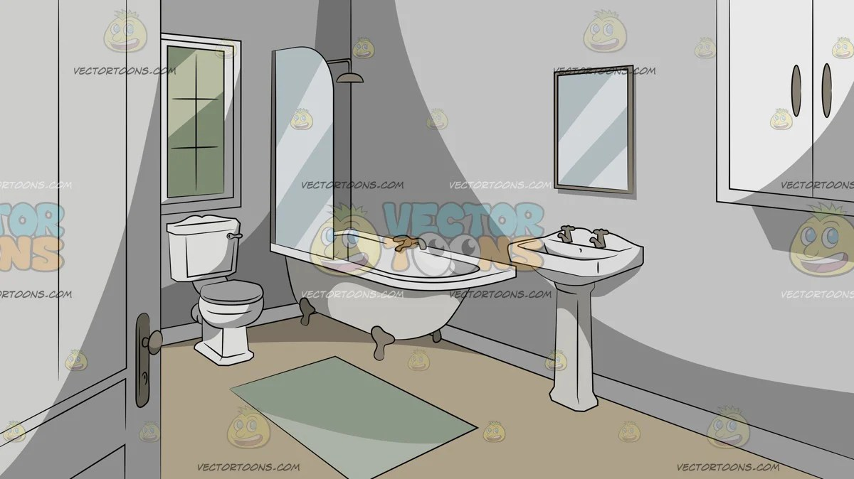 Simple Bathroom Background Clipart Cartoons By Vectortoons