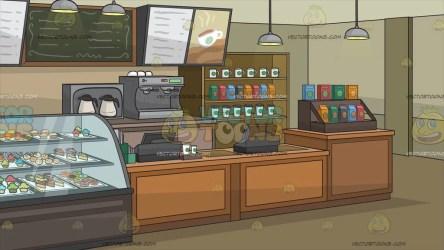 coffee background interior clipart cartoons vectortoons regular